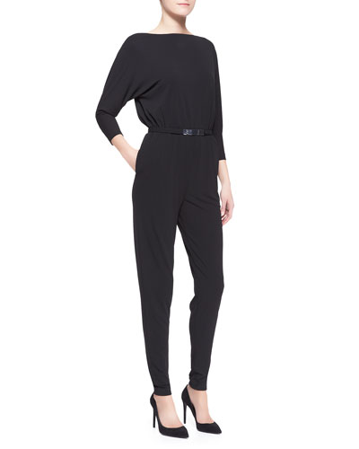 Shayla Belted Jersey Jumpsuit