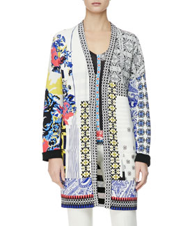 Etro Multimedia Patch-Print Duster Jacket