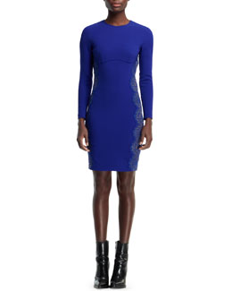 Stella McCartney Anne Long-Sleeve Sheath Dress, Blue Bird