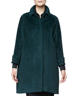 Burberry London Alpaca-Blend Drop-Sleeve Coat