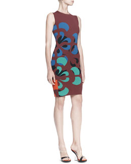 Alexander McQueen Broken Flower Sheath Dress