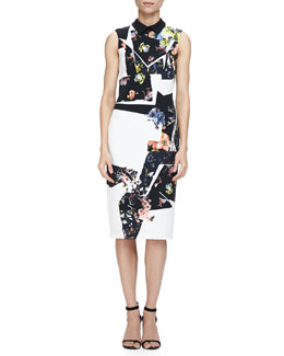 Erdem Brennon Printed Shift Dress
