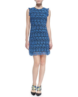 Erdem Rainie Sleeveless Lace Shift Dress