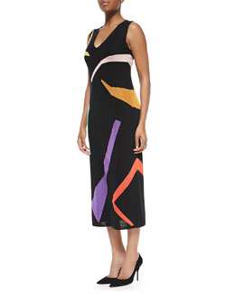 Missoni Abstract Intarsia-Knit Long Dress