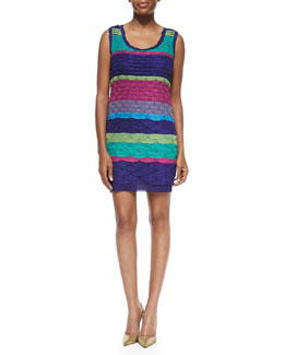 Missoni Multicolor Fish Scale Tank Dress