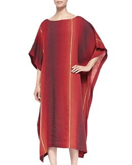 Bateau-Neck Caftan Dress