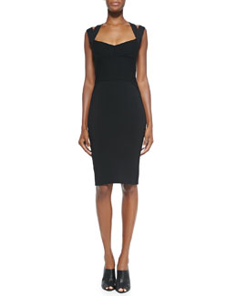 Narciso Rodriguez Sweetheart-Neck Dress W/ Double Straps