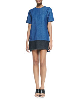 Proenza Schouler Short-Sleeve Tee Shift Dress
