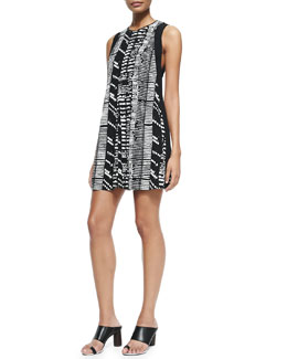 Proenza Schouler Sleeveless Printed Shift Dress