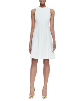 Ralph Lauren Black Label Amarine Sleeveless Fit-and-Flare Dress