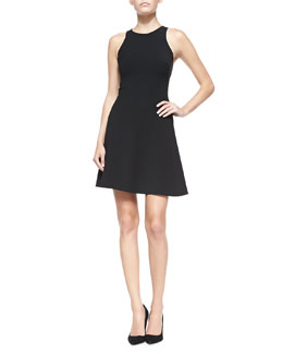 Ralph Lauren Black Label Yisbelle Sleeveless Fit-and-Flare Dress