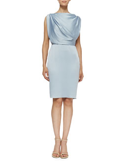 Jason Wu Sleeveless Sheath Dress W/ Draped Back