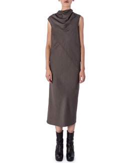 Rick Owens Bonnie High-Neck Sleeveless Dress