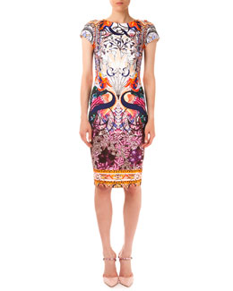 Mary Katrantzou Sirene Macu Matadi Printed Scuba Sheath Dress