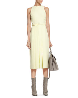 Gucci Pale Yellow Light Matte Cady Dress