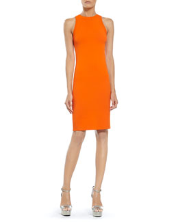 Gucci Orange Stretch Viscose Knit Dress