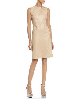 Gucci Pale Tan Soft Napa Knot Dress