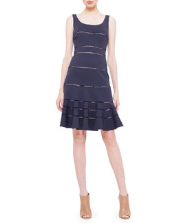 Akris punto Hemstitch Jersey Dress