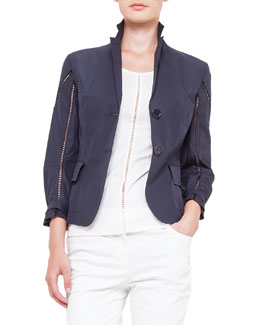 Akris punto 2-Button Hemstitch Jacket