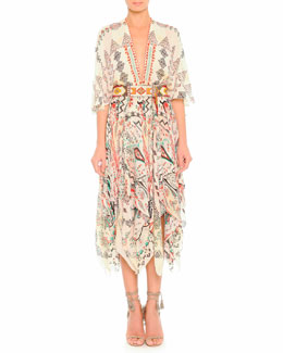 Etro Diamond Paisley Silk Dress