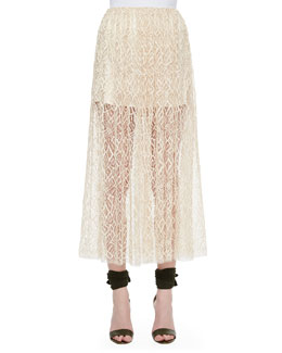 Double-Layer Lace Skirt