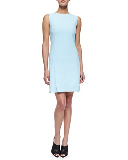Narciso Rodriguez Scuba Crepe Shift Dress, Light Blue