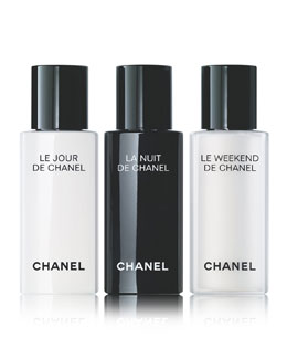 CHANEL <b>LE JOUR, LA NUIT, LE WEEKEND </b><br>Reactivate, Recharge, Renew, 3 x 0.5 oz.