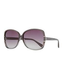 MARC by Marc Jacobs Oversized Plastic Sunglasses, Transparent Gray