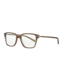 Oliver Peoples Stone Rectangle Fashion Glasses, Taupe