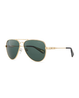 Lanvin Metal Aviator Sunglasses, Gold