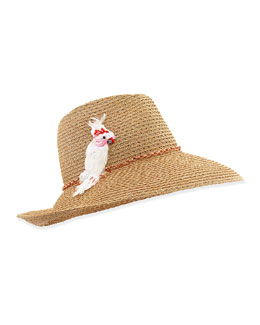 Eugenia Kim Emmanuelle Hat with Cockatoo