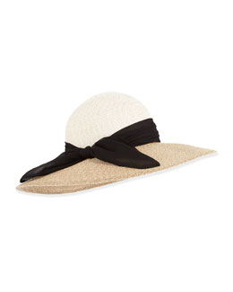 Eugenia Kim Honey Two-Tone Hat, Cream/Sand