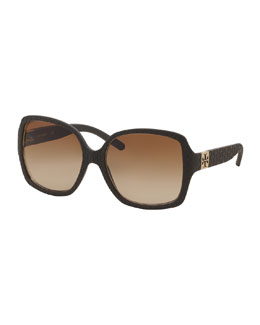 Tory Burch Gradient Stacked-T Sunglasses