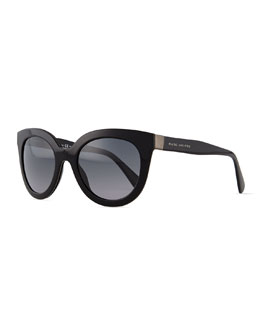 Marc Jacobs Thick Plastic Sunglasses, Black