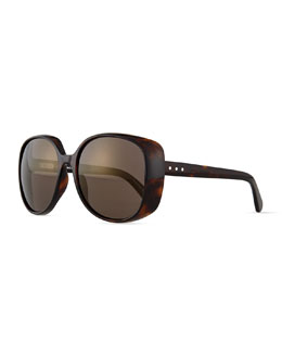 Marc Jacobs Flash Rounded Sunglasses, Havana