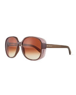 Marc Jacobs Rounded Colorblock Sunglasses, Mud Multi