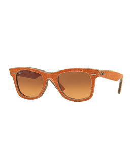 Ray-Ban Orange Denim Wayfarer Sunglasses
