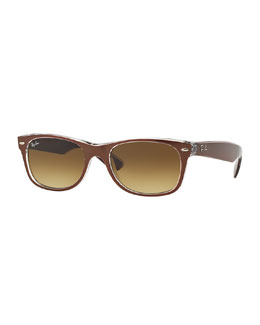 Ray-Ban New Wayfarer Sunglasses, Brown