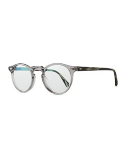 Oliver Peoples Gregory Peck Fashion Glasses, Gray