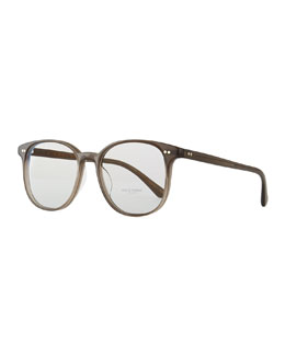 Oliver Peoples Scheyer Oval Fashion Glasses, Taupe