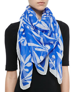 Anna Coroneo Olive Branch Printed Scarf