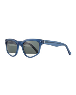 Grey Ant Amplifier Polarized Slanted Sunglasses, Blue