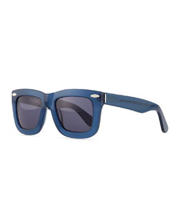 Grey Ant Status Thick Plastic Sunglasses, Blue