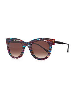 Thierry Lasry Limited Edition Rounded Square Sunglasses, Multi