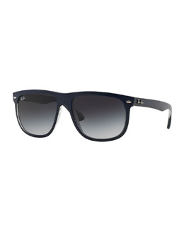 Ray-Ban Rectangular Wrap Sunglasses, Blue