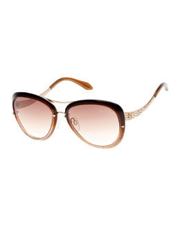 Roberto Cavalli Cat-Eye Aviator Sunglasses