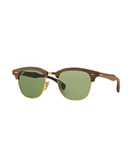 Ray-Ban Classic Clubmaster Wood Sunglasses