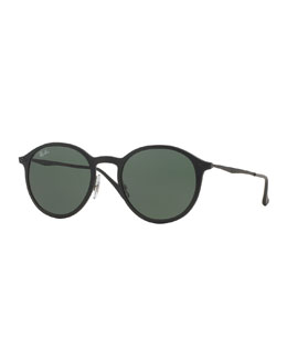 Ray-Ban Round Metal-Arm Sunglasses