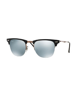 Ray-Ban Clubmaster Sunglasses with Mirror Lens