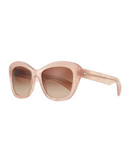 Oliver Peoples Emmy Universal Fit Cat-Eye Sunglasses